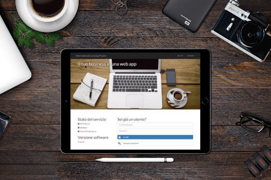 International Licensing Project - Tablet Login Page